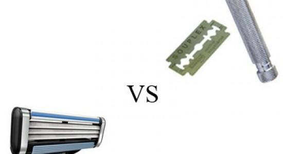 Сравнение безопасной бритвы и современного станка