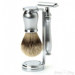 Бритвенный набор Edwin Jagger Chatsworth Barley Silver Tip Set