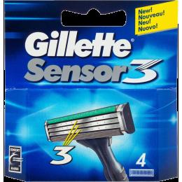 Картриджи Gillette Sensor 3, 4 штуки в упаковке