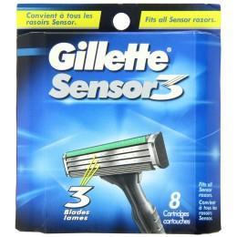 Картриджи Gillette Sensor 3, 8 штук в упаковке