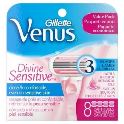 Картриджи Gillette Venus Divine Sensitive, 8 штук в упаковке