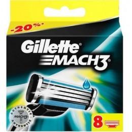 Картриджи Gillette Mach3, 8 шт в упаковке