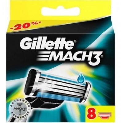 Картриджи Gillette Mach3 DLC , 12 штук в упаковке