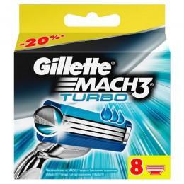 Картриджи Gillette Mach3 Turbo, 8 шт в упаковке