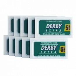 Лезвия для безопасной бритвы Derby Extra (50 лезвий)