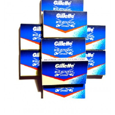 Лезвия для безопасной бритвы Gillette Wilkinson Sword (50 лезвий)