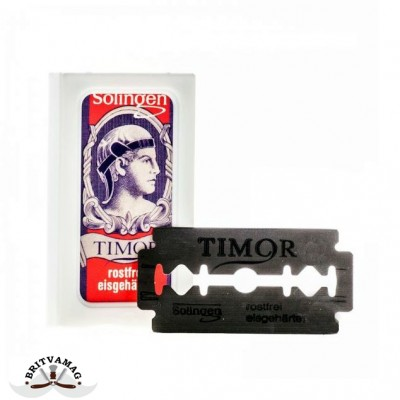 Лезвия для безопасной бритвы Timor Stainless Steel (10 лезвий)
