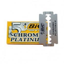 Лезвия для безопасной бритвы BIC Chrome Platinum (5 лезвий)