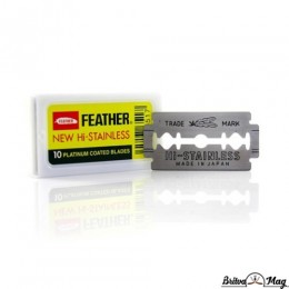 Лезвия для безопасной бритвы Feather New Hi-Stainless (10 лезвий)