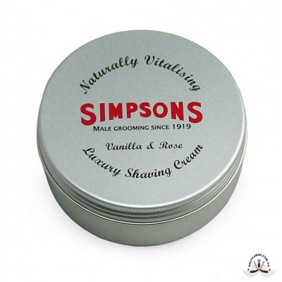 Крем для бритья Simpson Luxury Vanilla & Rose Shaving Cream