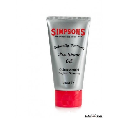 Масло до бритья Simpson Naturally Vitalising Pre-Shave Oil