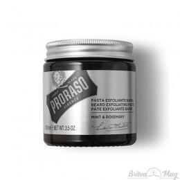 Скраб для лица и бороды Proraso Beard Exfoliante Paste Mint & Rosemary