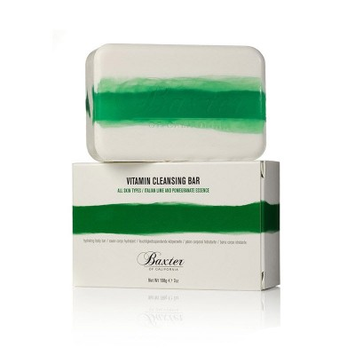 Мыло для лица и тела с ароматом лайма и граната Baxter of California Vitamin Cleansing Bar Italian Lime and Pomegranate