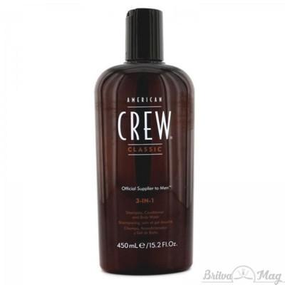 Средство по уходу за волосами и телом 3-в-1 American Crew Classic 3-in-1 Shampoo, Conditioner and Body Wash