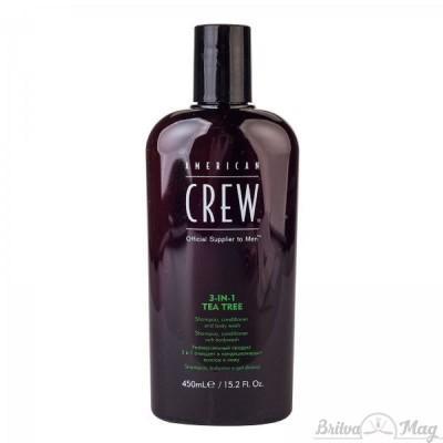 "Средство по уходу за волосами и телом 3-в-1 ""Чайное дерево"" American Crew Tea Tree 3-in-1 Shampoo, Conditioner and Body Wash"