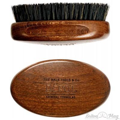 Щетка для бороды Depot 723 Wooden Beard Brush