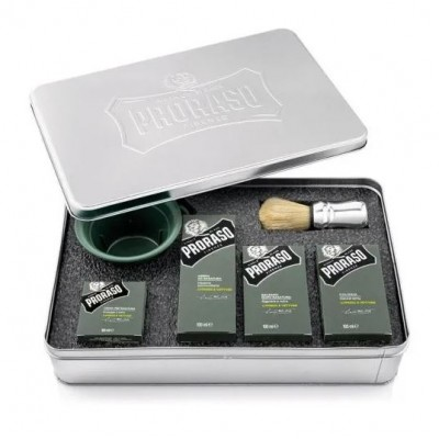 Набор для бритья Proraso Cypress & Vetyver Shaving Set Metal