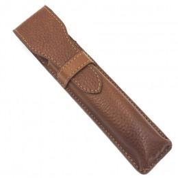 Кожаный чехол для опасной бритвы Parker LPST Brown