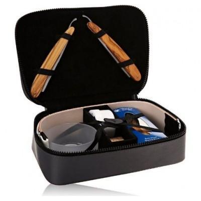 Кожаный несессер Dovo 860110 для 2 опасных бритв и аксессуаров