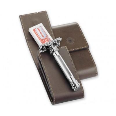 Жесткий кожаный чехол для Т-образной бритвы Merkur 570050
