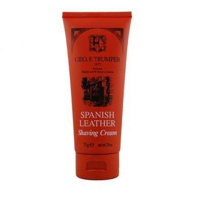 Крем для бритья Geo F Trumper Spanish Leather Soft Shaving Cream, 75 грамм