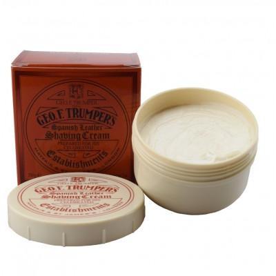 Крем для бритья Geo F Trumper Spanish Leather Soft Shaving Cream Bowl, 200 грамм