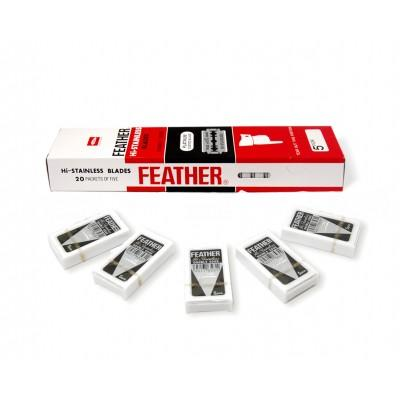 Лезвия для безопасной бритвы Feather New Hi-Stainless (25 лезвий)
