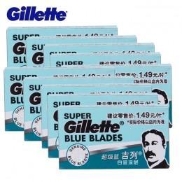 Лезвия для безопасной бритвы Gillette Super Blue (50 лезвий)