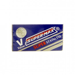 Лезвия для безопасной бритвы Super-Max Stainless (10 лезвий)