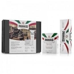 Подарочный набор для бритья Proraso Duo Pack Sensitive (Cream + Balsam)