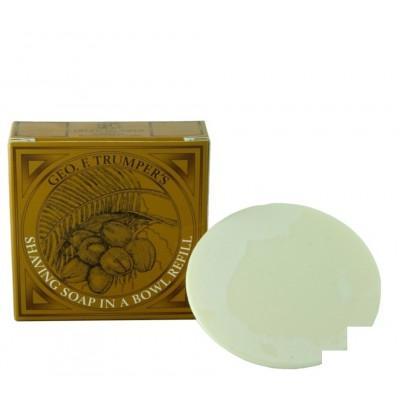 Мыло для бритья Geo F Trumper Coconut Oil Hard Shaving Soap, 80 грамм