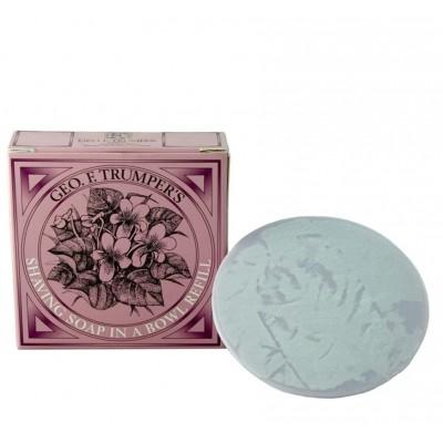 Мыло для бритья Geo F Trumper Violet Hard Shaving Soap, 80 грамм