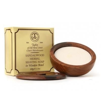Мыло в деревянной чаше Taylor of Old Bond Street Sandalwood