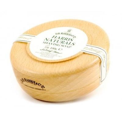 Твердое мыло для бритья в чаше из бука D.R. Harris, Naturals Shaving Soap