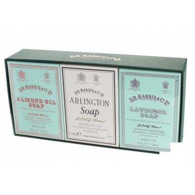 Набор мыла для тела D R Harris Bath Soap Trio (Almond, Arlington, Lavender)