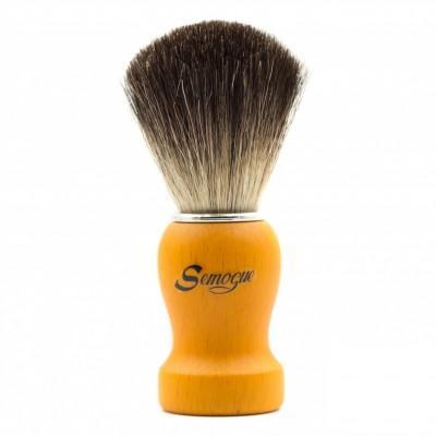 Помазок для бритья Semogue Pharos-C3 Pure Black Horse Yellow
