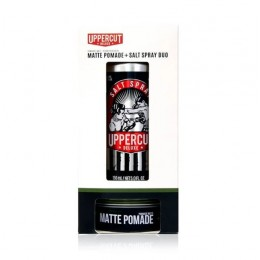 Подарочный набор Uppercut Deluxe Matte Pomade & Salt Spray Duo