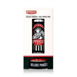 Подарочный набор Uppercut Deluxe Pomade & Salt Spray Duo