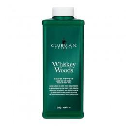 Тальк для тела супер-легкий белый Clubman Pinaud Whiskey Woods 255 грамм