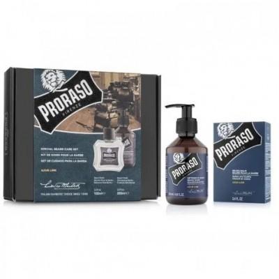 Подарочный набор для бороды Proraso Azur Lime Duo Pack (Balm + Shampoo)