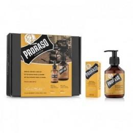 Подарочный набор для бороды Proraso Wood & Spice Duo Pack (Oil+Shampoo)