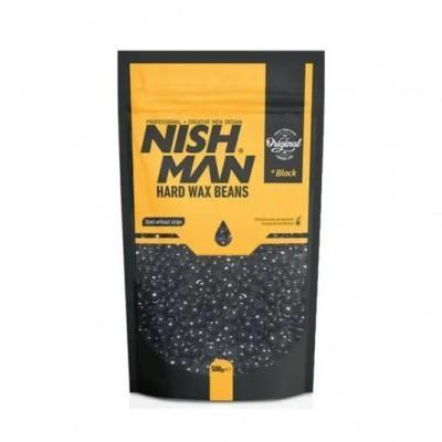 Воск для депиляции Nishman Hard Wax Beans Black 500 гр