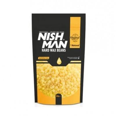 Воск для депиляции Nishman Hard Wax Beans Natural 500 гр