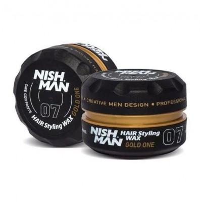 Воск для укладки волос Nishman №07 Hair Wax Gold One 150 мл
